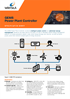 GEMS Power Plant Controller Specification Sheet