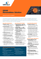GEMS Renewables+ Solution Specification Sheet