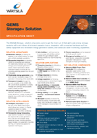 GEMS Storage+ Solution Specification Sheet