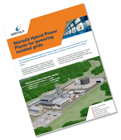 Wärtsilä Hybrid Power Plants for powering isolated grids