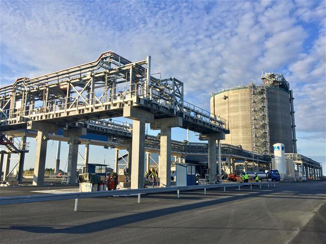 Tornio Manga LNG terminal in August 2017