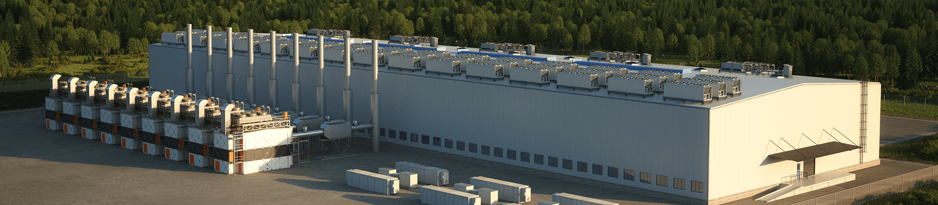 Benefits of a hybrid gas engine power plant for data center on site generation