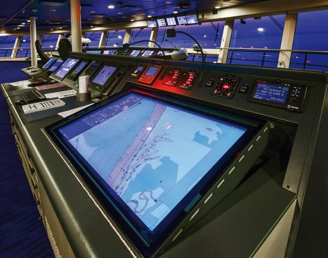 Wärtsilä NACOS ECDISPILOT Platinum - Quantum of the Seas Bridge map table