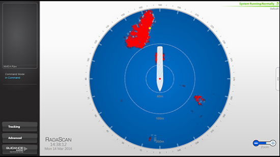 RadaScan View - single target