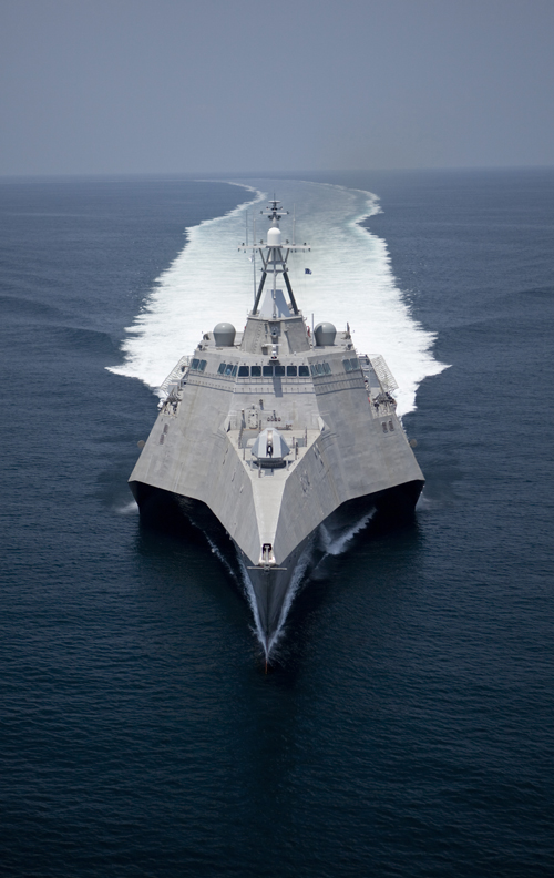 Propulsion control system - US - LCS-2 Independence on trials (bow shot) - Copyright Austal Australia 2009