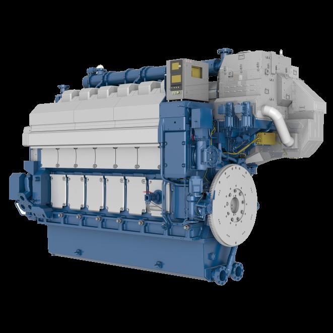 W rtsil 34df for Diesel motor oil in gas engine