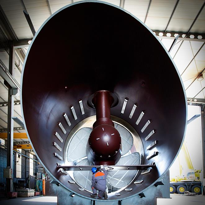CT3500 largest tunnel thruster in the world