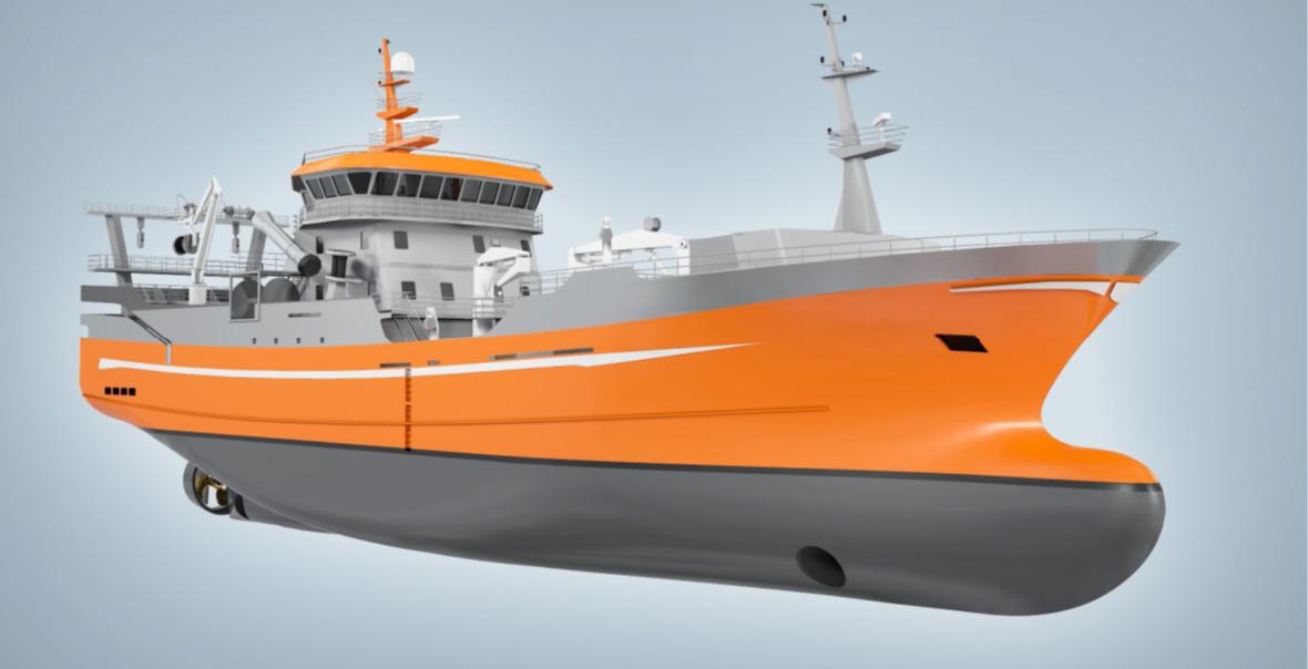 VS 6112 Midwater Trawler, Ship Design - Voyager