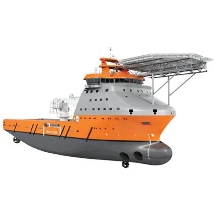 VS 4528 MPSV Helideck,  Ship Design