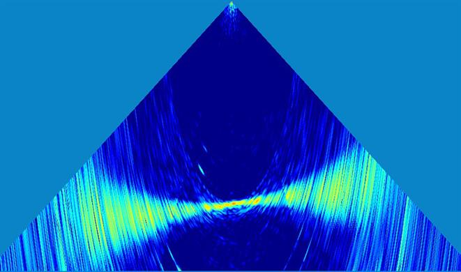 Wärtsilä ELAC SeaBeam 3050 N - High-resolution water column imaging (WCI) data, visualised with the ELAC WCI Viewer