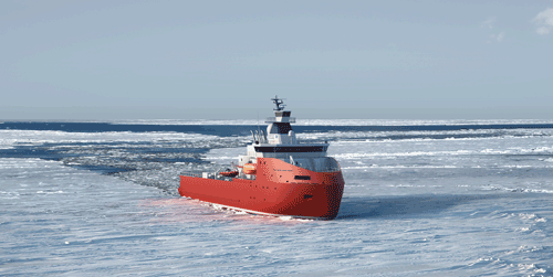 New support icebreaker in Antarctic featuring Wärtsilä