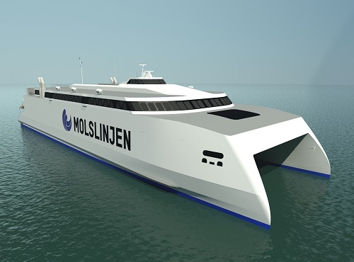 Wärtsilä's compact axial flow jet solution was considered the most appropriate choice for the new Molslinjen high-speed ferry.