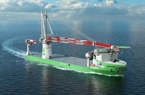 The world's first LNG fuelled offshore construction vessel being built for DEME will be powered by Wärtsilä