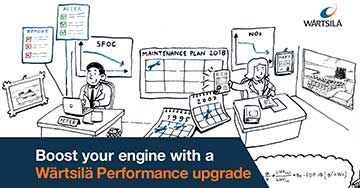 Wärtsilä 46 Turbocharger Performance optimisation image with captions
