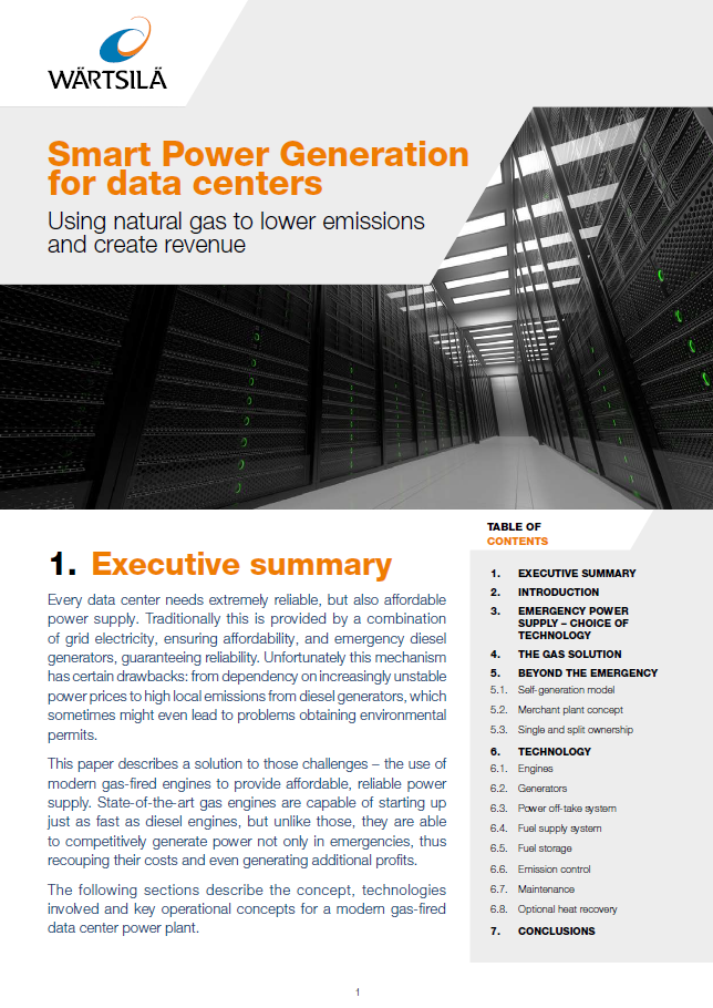 Smart power generation for data centers