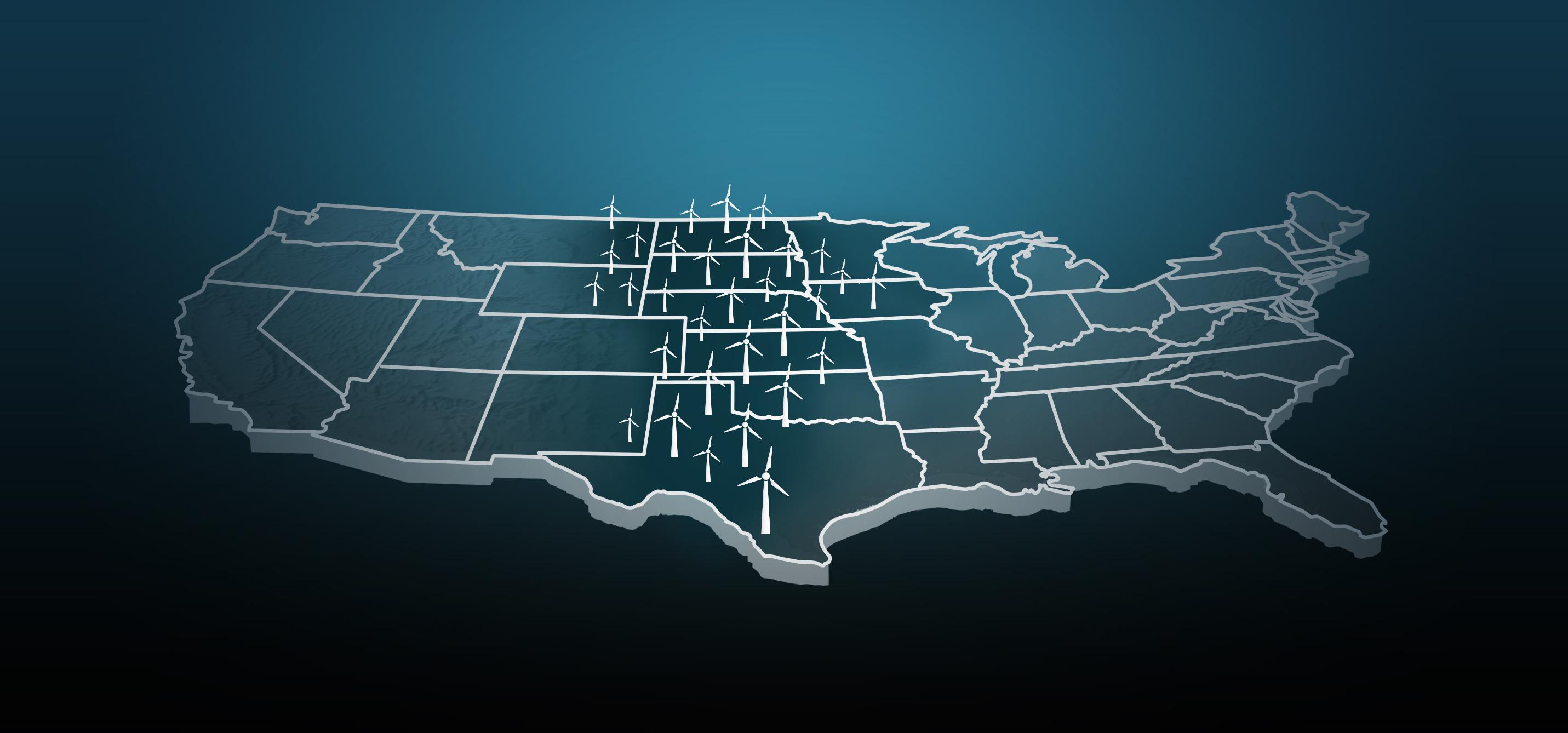 Wind Corridor map