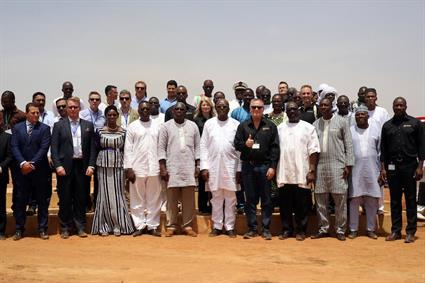 The inauguration of the world's largest Solar Hybrid power plant was attended by representatives from Iamgold and Wärtsilä, as well as the President of Burkina Faso, Mr. Roch Marc Christian Kaboré.