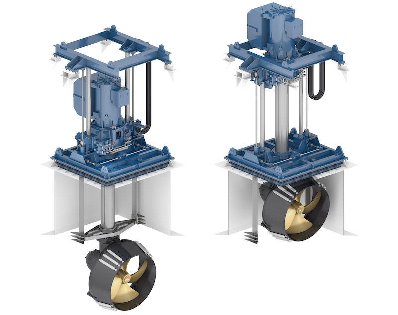 The Wärtsilä WST-24R thruster offers more effective thrust than comparable conventional thrusters.