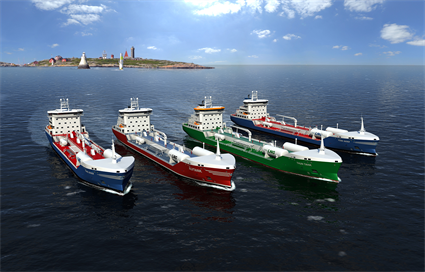 Modern tankers with optimized propulsion system and LNG driven DF engines