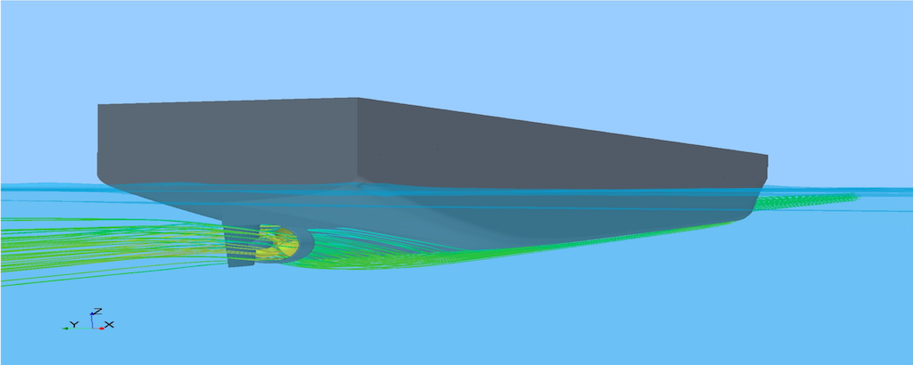 Vessel performance determination based on Virtual Towing Tank