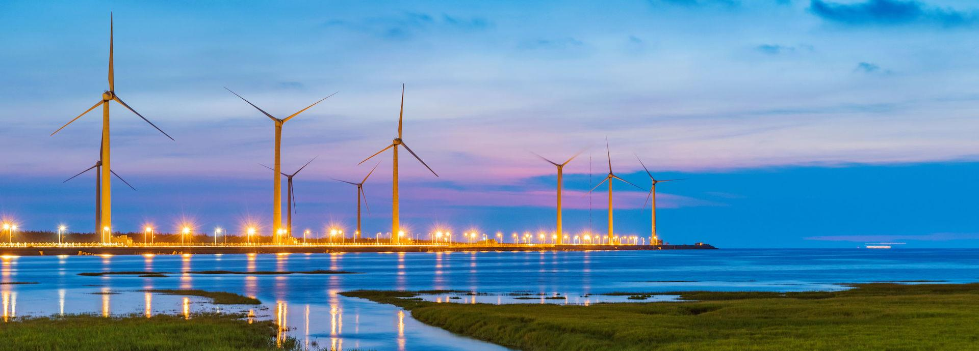 windfarm at night