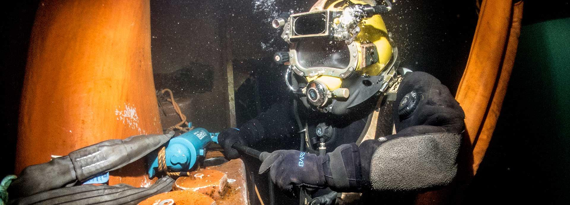 Save time with underwater repair and maintenance