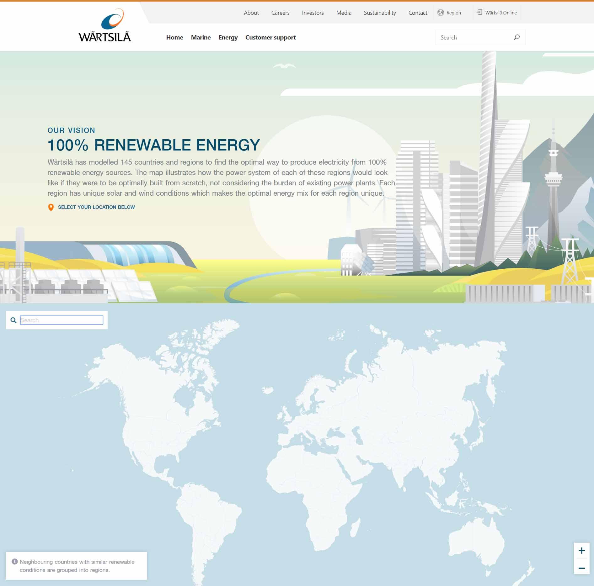 Wärtsilä atlas of 100% renewable energy