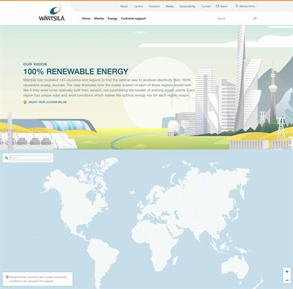 Wärtsilä atlas of 100% renewable energy
