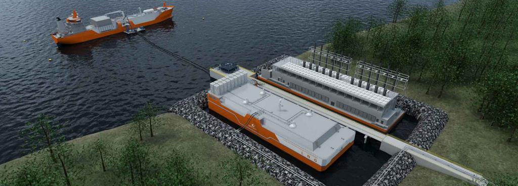 Wärtsilä's floating storage and regasification barges support LNG growth